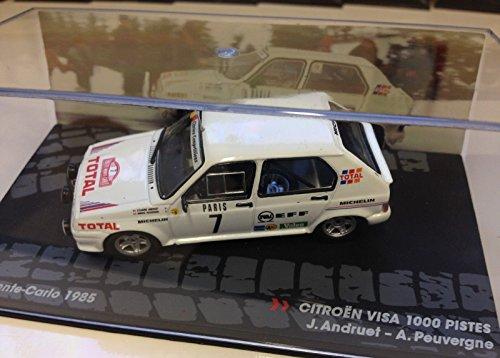 Générique Citroen Visa 1000 PISTES - Rally Monte Carlo 1985 - ANDRUET - IXO 1/43