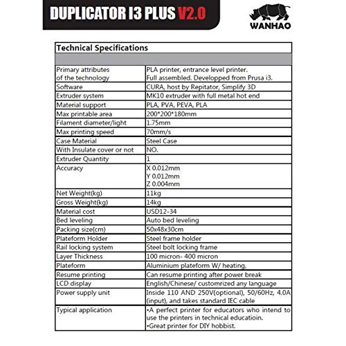 Wanhao – Duplicator i3 Plus Mark II - 2