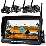 Wireless Backup Camera with Built-in Recorder 9' FHD Monitor for Truck Rear View Reversing Backing Up Camera With Extra Stable Signal IP69 Monitor System for RV Trailer Bus Motorhome Camper Xroose WX4