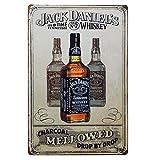 DGBELL Jack Daniels Retro Wand Dekoration Zinn Zeichen