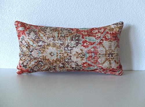 Ethan Allen Chakra Cinnabar 8x16 Sariz Cerise Mini Lumbar Pillowcase Cover