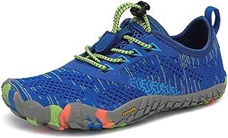 SAGUARO Kinder Barfußschuhe Atmungsaktiv rutschfest Wanderschuhe Leicht Weich Sportschuhe Laufschuhe, Gr.24-36