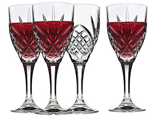 Godinger Wine Glasses, Stemmed Glass Goblets - Dublin Crystal, Set of 4