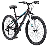 Mongoose Silva Mountain Bike, For Women and Girls, 26-Inch Wheels, Black