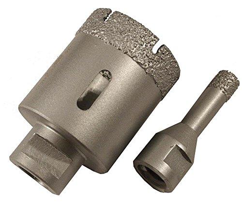 Dr. Diamond M14 Diamantbohrkronen Trocken Bohrkronen für Winkelschleifer Fliesenbohrkronen Ø 40 mm
