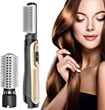 Spazzola ad Aria Calda,ANLAN Doppia rotazione Spazzola Asciugacapelli,spazzola rotante per capelli,Volumizzatore asciugacapelli a ioni negativi asciugacapelli bigodini per tutti i tipi di capelli
