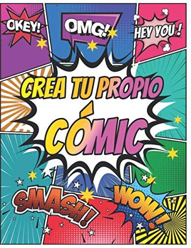 Crea Tu Propio Cómic: Imagina y escribe tus historias con esta variedad de plantillas de cómics en blanco para niños, adultos y adolescentes.
