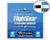 FlightGear Flight Simulator 2020 X Flight Sim Plane & Helicopter Professional Simulator USB Including 600+ Aircraft & 20,000 Real World Airports Compatible with Microsoft Windows 10 8.1 8 7 Vista PC