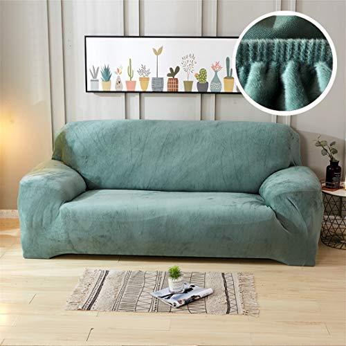Mdsgfc - Funda de sofá universal de felpa con sección elástica y seccional para sofá, Grosor de felpa 5., 1-seater(90-140 cm)