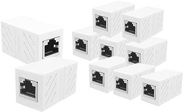 UGREEN RJ45 Coupler 10 Pack in Line Coupler Cat7 Cat6 Cat5e Ethernet Cable Extender Adapter Female to Female (White)