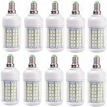 SGJFZD LED Lamp Bulb E27/E14 15W Candle Light Bombillas 220V 96LED SMD 5730 Home Decoration Lamp for Chandelier Spotlight...