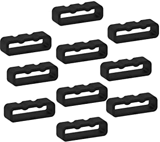 ECSEM Fastener Rings Compatible with Garmin Fenix 5/ Fenix 5 Plus Bands(Pack of 10) Silicone Connector Security Loop Keepe...