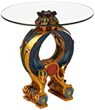 Design Toscano Wings of Horus Egyptian Altar Side Table, Full Color