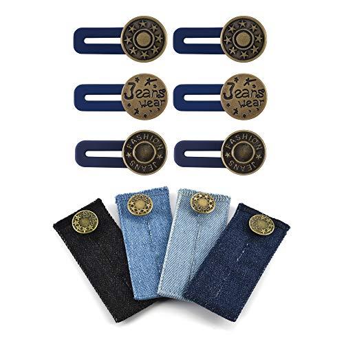 CHIC DIARY 10/12 Stück Wunderknöpfe Hose Knopf Verlängerung Jeans Hosenerweiterung Bunderweiterung Hosenverlängerung
