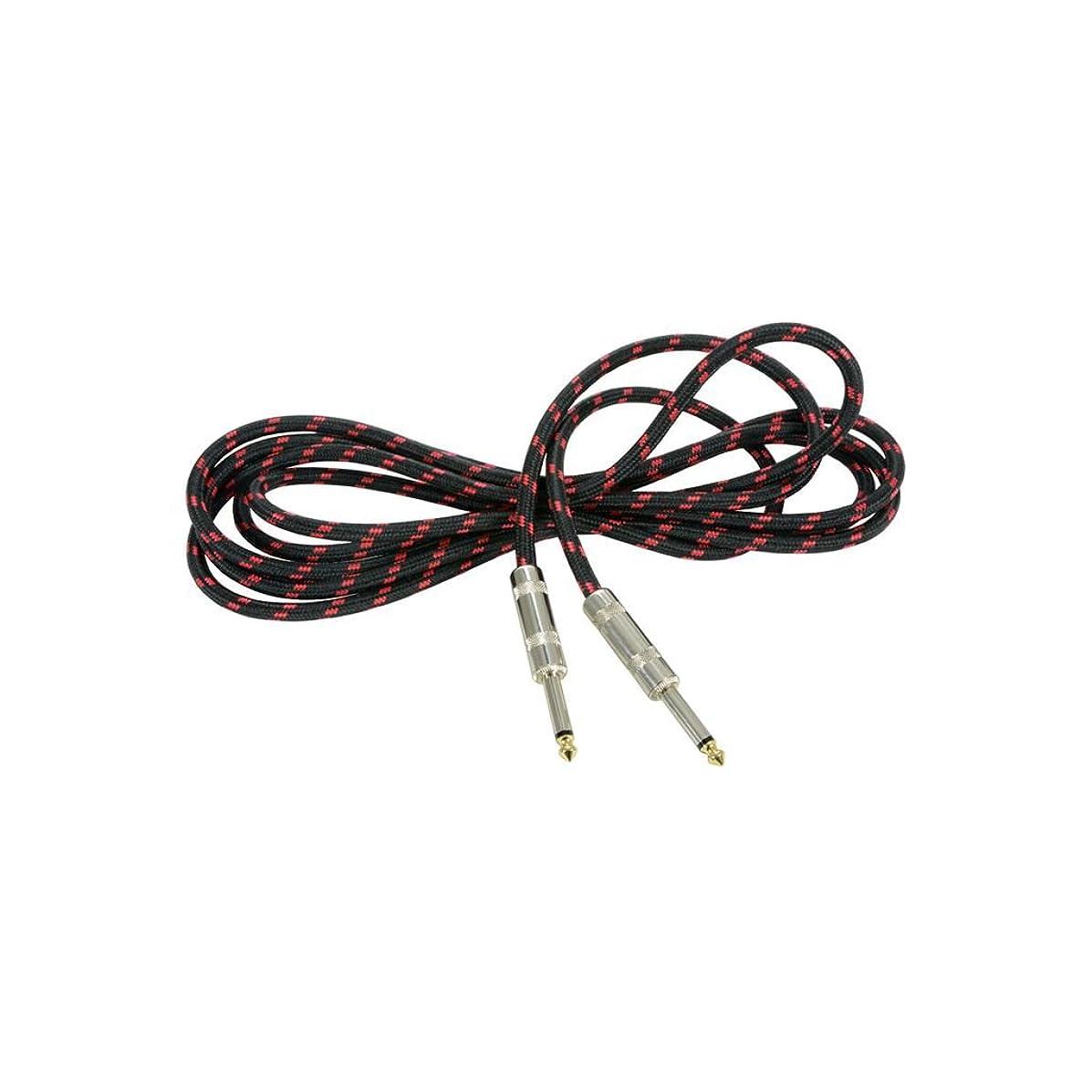 Chord   Premium Retro Guitar Lead   Black & Red 3.0m
