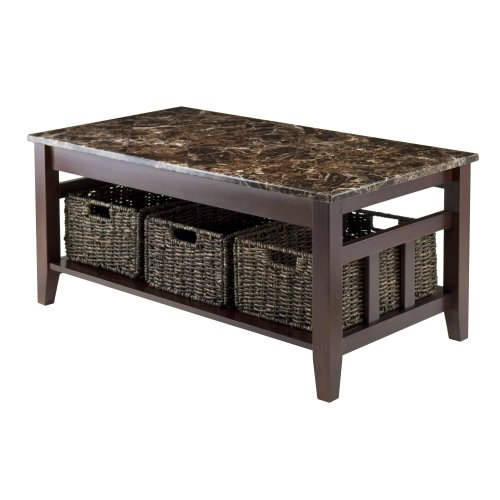 Winsome Zoey Occasional Table, Chocolate