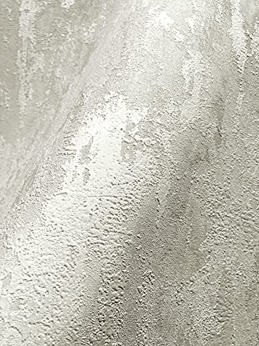 NEWROOM Tapete Creme Putz Beton Architekt Vliestapete Vlies moderne Design Optik Tapete Struktur Premium inkl. Tapezier Ratgeber
