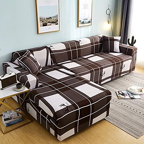 WXQY Elastische Schutzhülle weicher Sofabezug rutschfeste Heimtextilien Möbel Staubschutz All-Inclusive Couchbezug A5 4 Sitzer