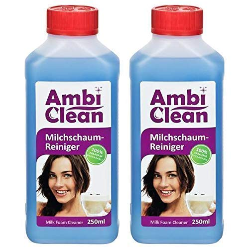 AmbiClean® Milchschaum-Reiniger für Kaffeevollautomat und Kaffeemaschine - Flüssig-Reiniger für Milchaufschäumer oder Sahnespender - 2x250ml