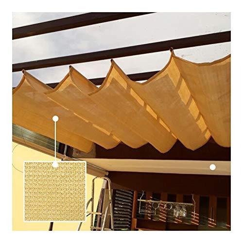GDMING Retráctil Sombra De Vela, Proteccion Solar Cubierta De Dosel Wave,Toldo Permeable, Al Aire Libre Cortina, para Cubierta Conducción Techo Poliéster,Tamaño Personalizado
