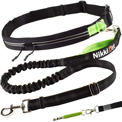 Joggingleine +Bonus: Hundepfeife I Jogging Hundeleine für große und mittelgroße Hunde I verstellbare Laufleine für Hunde I Bauchgurt Hundeleine zum Laufen, Joggen, Wandern I Hundeleine Joggen