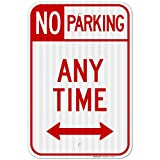 No Parking Sign, No Parking Anytime Sign, Large 12x18 3M Reflective (EGP) Rust Free .63 Aluminum, Weather/Fade Resistant, Easy Mounting, Indoor/Outdoor Use, Made in USA by SIGO SIGNS