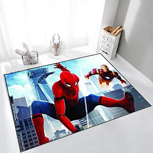 GOOCO Tapis Enfants Spiderman Tapis De Sol Décoration Chaude Canapé Table Basse Couverture Chevet Baie Vitrée Tapis D