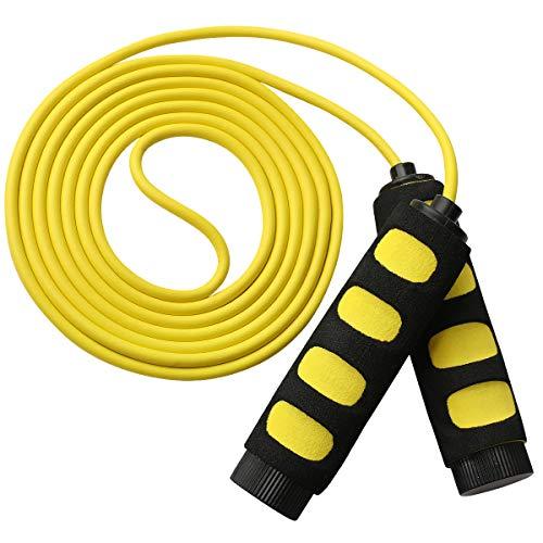 MOCOCITO Springseil, Speed Rope Springseil Erwachsene und Kinde 3 Meter Länge Einstellbar,Jump Rope mit Rutschfesten Handgriffe, Seilspringen für Fitness, Intervalltraining,Boxen, MMA, Crossfit, HIIT