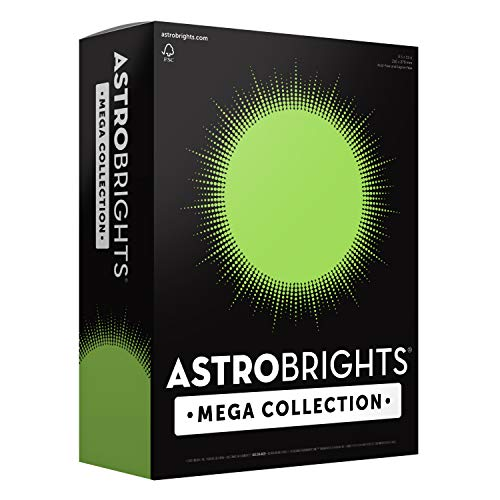 Astrobrights Mega Collection, Colored Cardstock, Bright Lime Green, 320 Sheets, 65 lb/176 gsm, 8.5' x 11' - MORE SHEETS! (91698)
