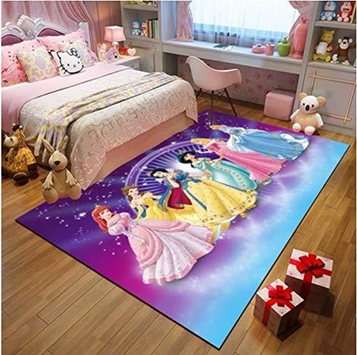 Teppich Prinzessin Zimmer 3D Teppiche Wohnzimmer Couchtisch Schlafzimmer Nachttisch Teppich Einfache Moderne Cartoon-Stil Bodenmatte Dekoration 160 Cm * 230 Cm