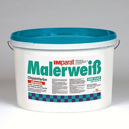 IMparat Malerweiß Wandfarbe Innenfarbe Innenweiß Objektfarbe Profiqualität 15 L ALTWEIß