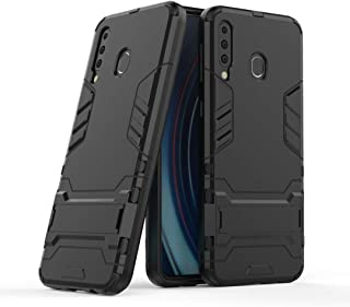 FanTing Case for Honor X10 Max 5G, Rugged and shockproof,with mobile phone holder, Cover for Honor X10 Max 5G-Black