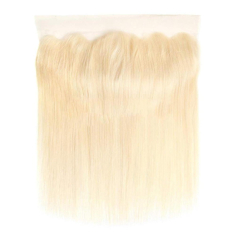 文かろうじてマニフェストBOBIDYEE ブラジルの人間の髪の毛613#金髪レース前頭閉鎖無料パート13X4耳と耳のレース前頭合成髪レースかつらロールプレイングかつら長くて短い女性自然 (色 : Blonde, サイズ : 16 inch)