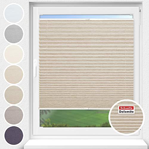 Schuette® Estor plisado con agujeros para atornillar. Colección Dolomite: marrón claro (beige)...