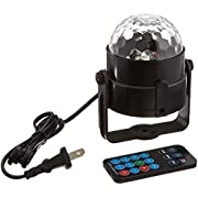 DJ Lights, SOLMORE LED Stage Lights Disco Light 5W RGB Sound Actived Crystal Magic Rotating Ball Light for Wedding Xmas KTV Party Show Club Pub Disco DJ
