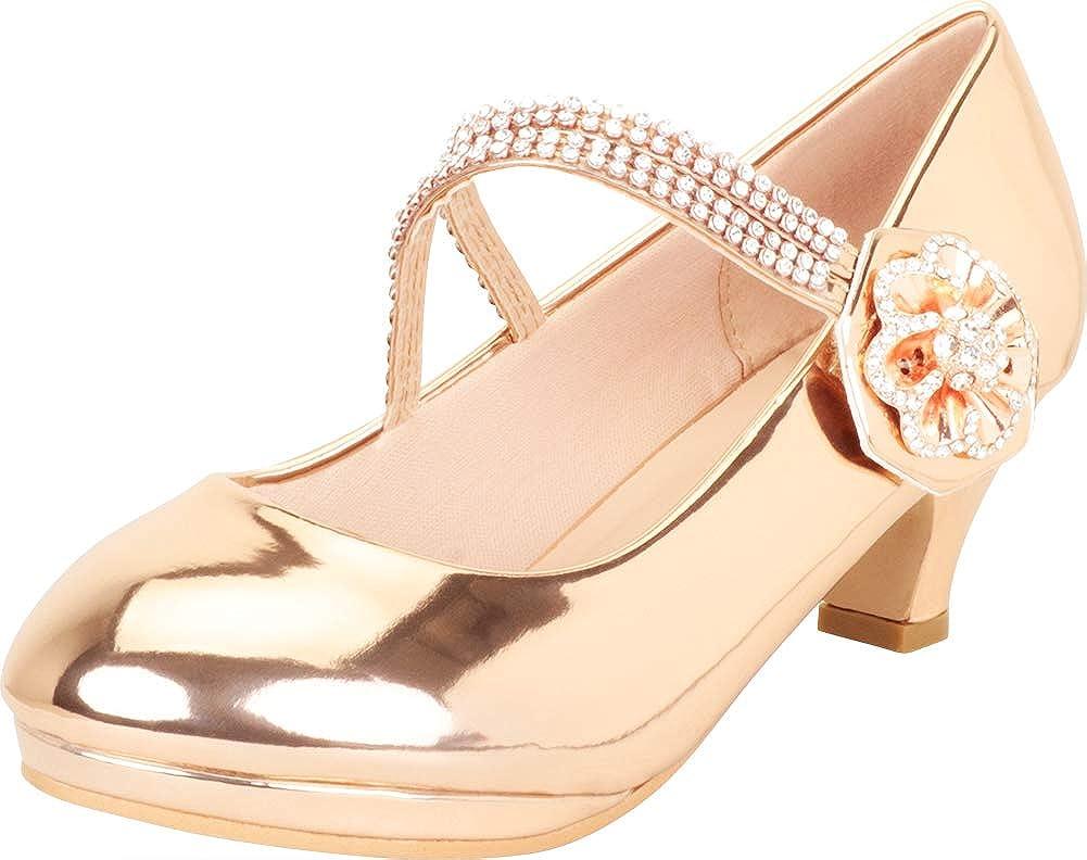 Cambridge Select Girls' Crystal Rhinestone Flower Mary Jane Low Heel Dress Pump (Toddler/Little Kid/Big Kid)