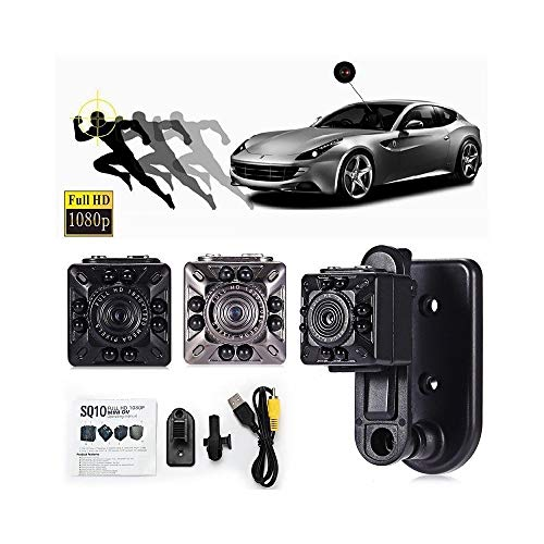Trade Shop Traesio Mini Dv Kamera Spy Cam, Infrarot Kamera, Sq10 Full HD, 1920 x 1080, 360°