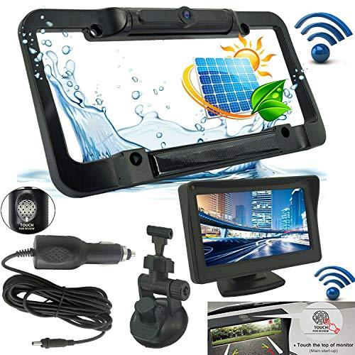 iMeshbean Wireless Backup Camera and HD Monitor Kit Solar Power Night Vision Waterproof