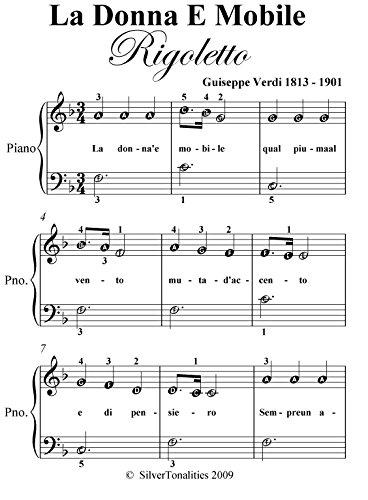La Donna Mobile Rigoletto Verdi Easiest Piano Sheet Music (English Edition)