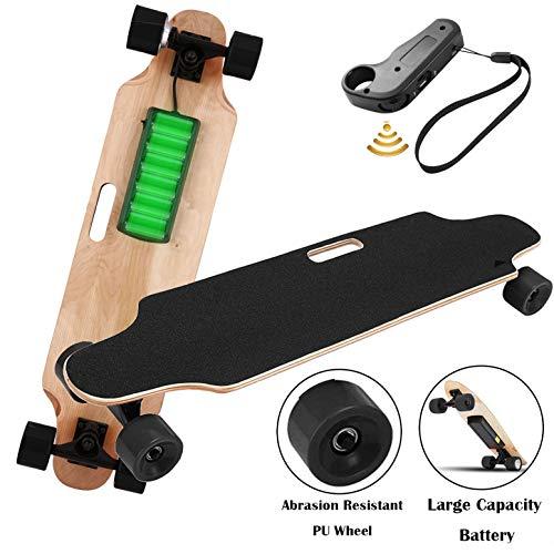 Aceshin Electric Skateboard Motorized Skateboard 20 KM/H Top Speed, 250W Motor,7 Layers Maple Longboard with Wireless Remote Control Birthday for Adult Kids Teens (Black)