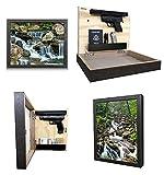 Hidden Gun Storage Picture Frame Safe with 11' x 14' Print - Firearms & Handgun Cabinet