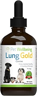Pet Wellbeing - Lung Gold for Cats and Dogs - Natural Breathing Support for Canines