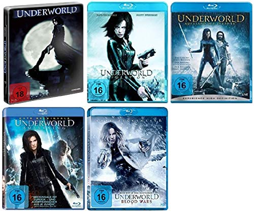 Underworld 1-5 / Teil 1+2+3+4+5 / Teil 1 Futurepak [Blu-ray Set]