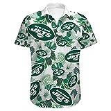 Xiaolimou Hommes T-Shirt New York Giants, Minnesota Vikings, New York Jets Fans Rugby Chemises Confortable Maillots Uniforme Top Brodés S-5XL, Cadeaux pour Les Fans De Rugby,Vert,L