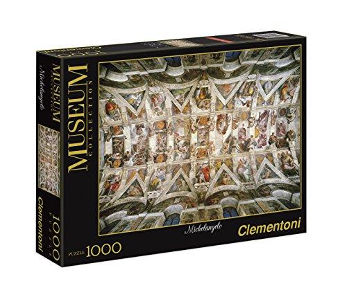 Clementoni - Puzzle de 1000 Piezas, diseño Michelangelo:: Bóveda de la Capilla Sixtina (39225.4)