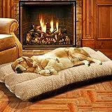 Authda - Cuccia per cani extra large, 127 x 78 cm, lavabile per animali domestici, comodo materasso in pile staccabile facile da pulire