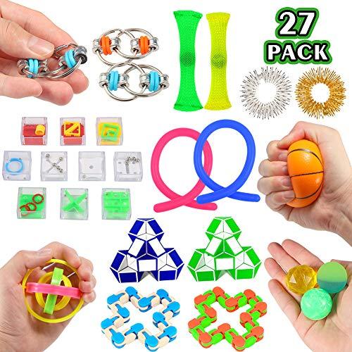 ThinkMax Fidget Spielzeug Set für Autismus ADHS, 27 Stück Stressabbau Spielzeug für Kinder und Erwachsene