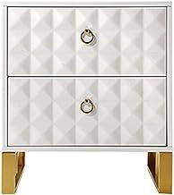 Bedside Table Drawer Locker-Small Bedside Cabinet Simple Wrought Iron White Mini Narrow Cabinet Storage Locker Bedside Dra...