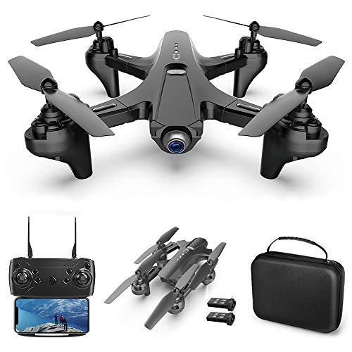 Goolsky RC Drone con cámara Dual Camera Drone 4k RC Quadcopter WiFi FPV Drone Drone Plegable Modo sin Cabeza Una tecla de Retorno Drone para Adultos con Bolsa portátil