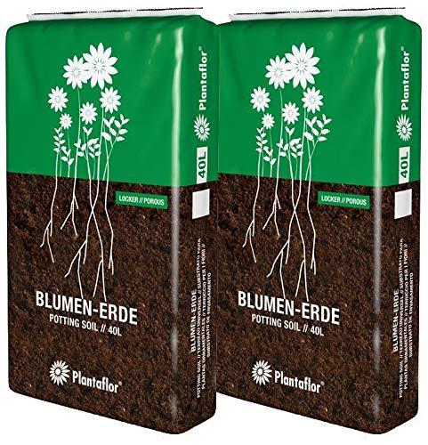 HaGaFe Plantaflor Universalerde Blumenerde 80L (2 x 40L) Erde zum Topfen & Planzen